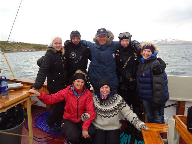 My dive team. Saevor,Erlendur,Bob,Ingi,Anna,Eydís,Sesselja.